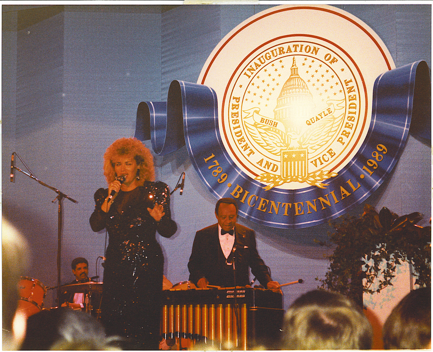 During my performance with Lionel Hampton at the Presidential Inauguration
