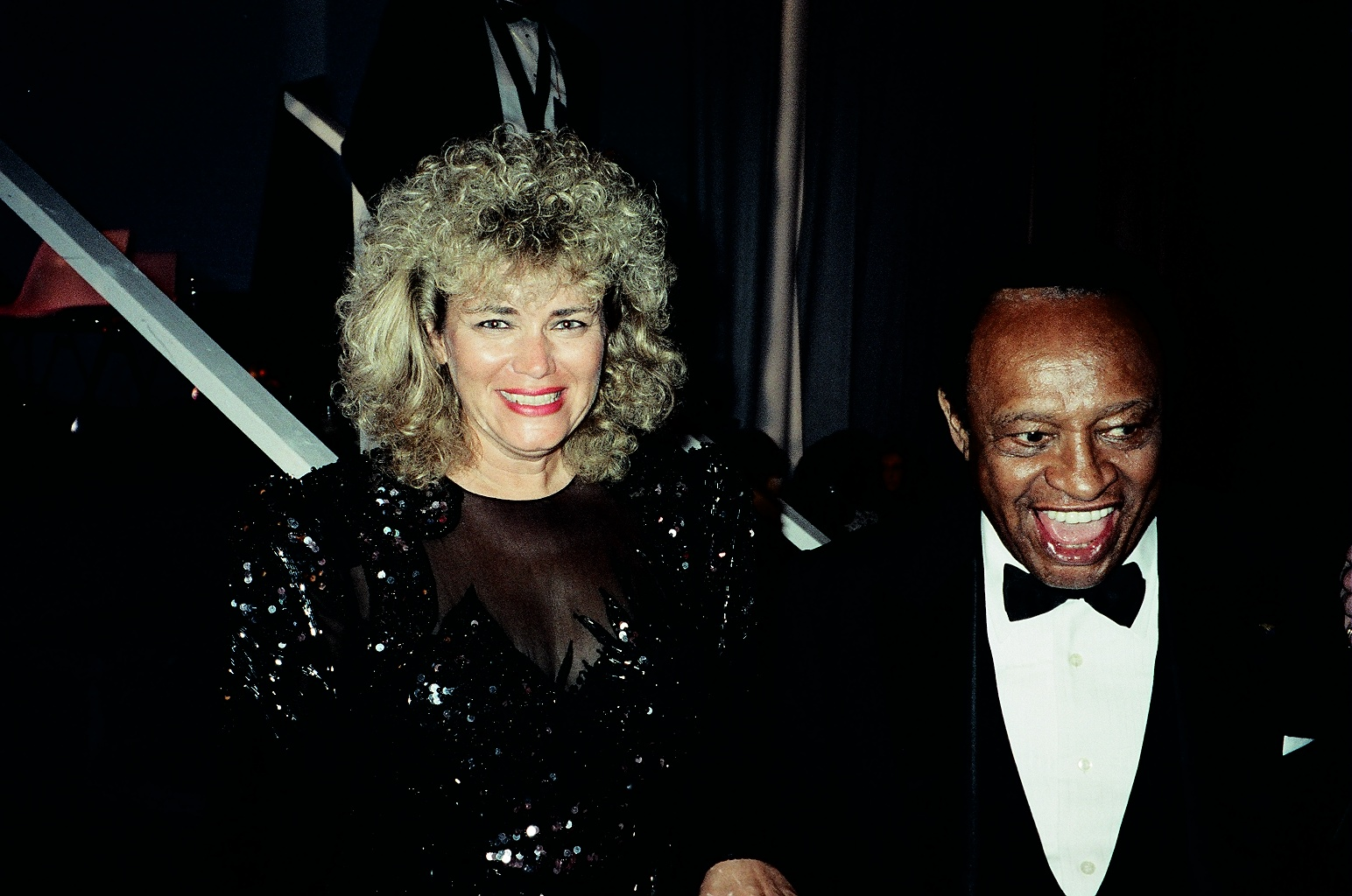 With Lionel Hampton after the Presidential Inauguration performance