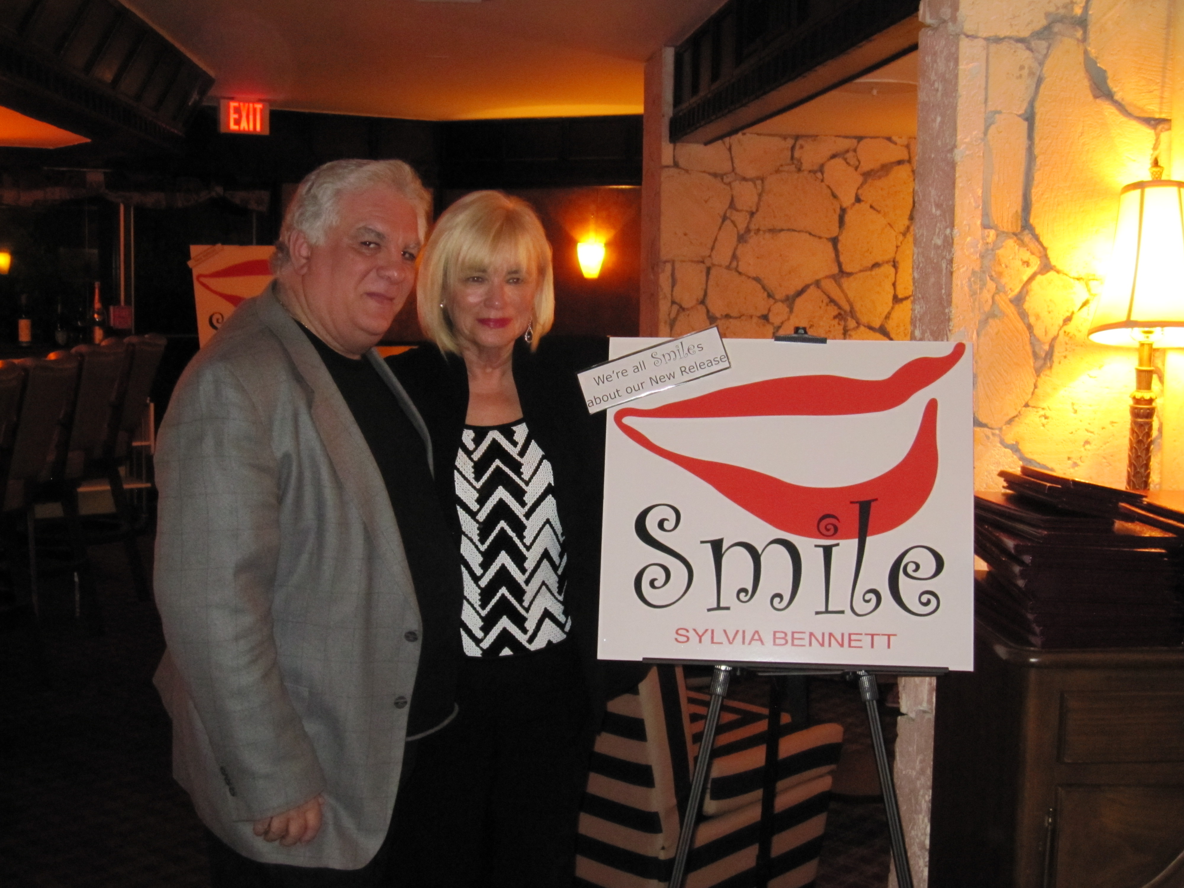 at the CD Release party for Smile with Ed Blanco